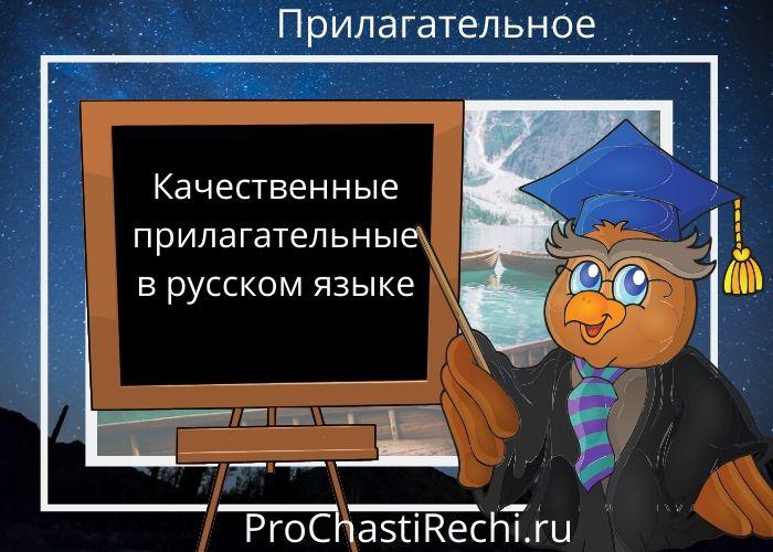 Качественные прилагательные в русском языке